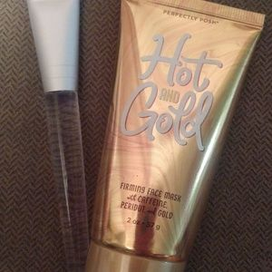Hot and gold firming face mask with caffeine